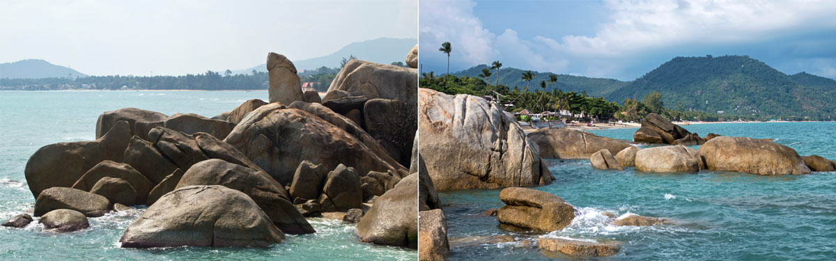 The Grandfather and Grandmother Rock in Koh Samui