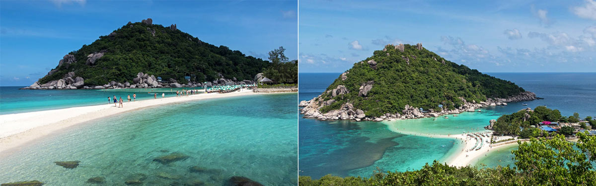 Amazing view from Koh Nang Yuan Viewpoint
