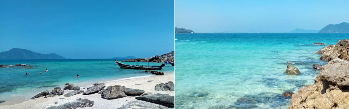 The amazing turquoise water of Koh Bon, Phuket